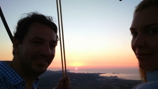 Ballon-Sonnenuntergang