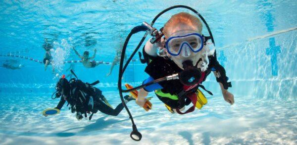 baptême de plongée sous-marine enfants