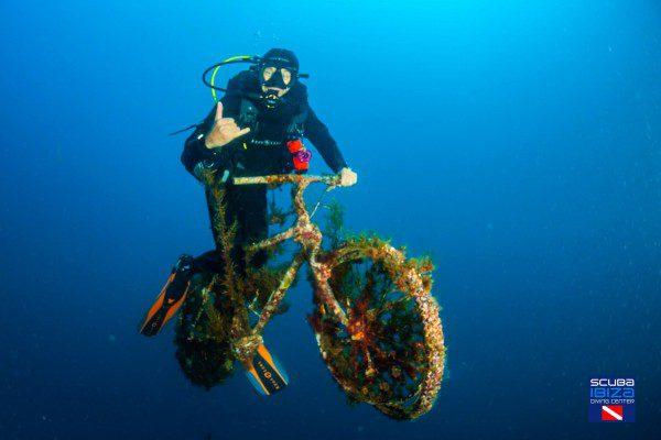scuba diving and biking