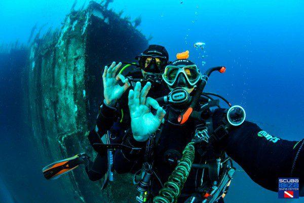 scuba ok sous l'eau